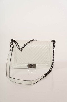 White bag elegant from ecological leather