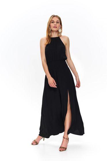 Black dress maxi dresses cloche sleeveless cut material