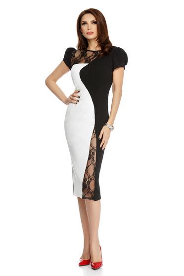 White dress elegant midi pencil