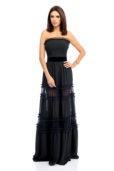 Black dress occasional elegant corset cloche maxi dresses