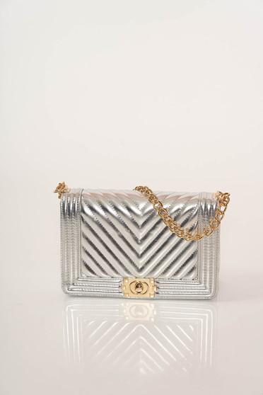 Bag silver elegant metallic chain accessory metallic color