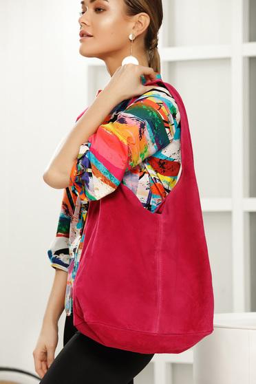 Fuchsia casual bag medium handles with an accessory