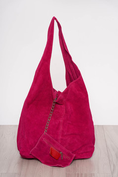 Fuchsia casual bag medium handles with an accessory