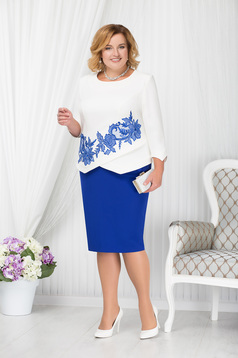 Blue lady set occasional elegant cloth with inside lining