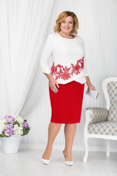 Red lady set occasional elegant cloth with inside lining
