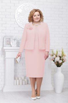 Lightpink lady set elegant cloth with pearls