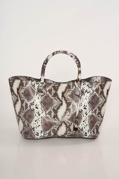 Casual bag snake print medium handles