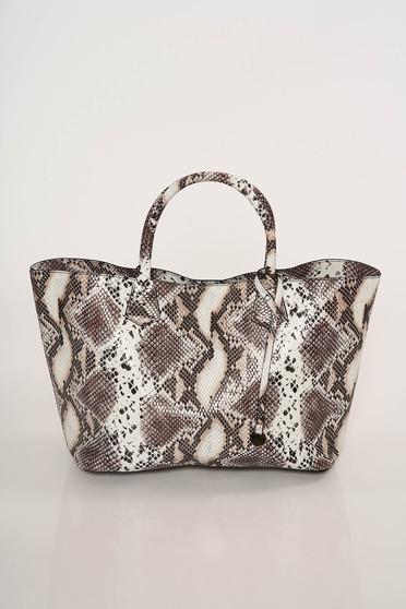 Casual bag snake print medium handles