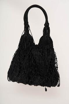 Bag black casual medium handles
