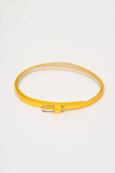 StarShinerS yellow belt from ecological leather metallic buckle