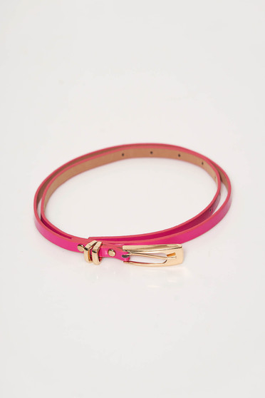 StarShinerS fuchsia belt from ecological leather metallic buckle