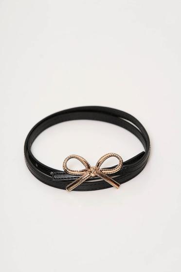StarShinerS black belt from ecological leather bow accessory