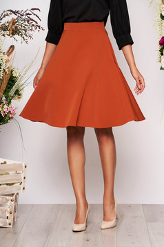 StarShinerS bricky elegant cloche skirt high waisted slightly elastic fabric office