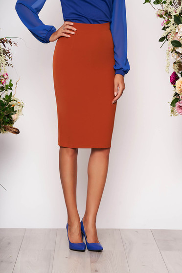 StarShinerS bricky high waisted office pencil skirt slightly elastic fabric