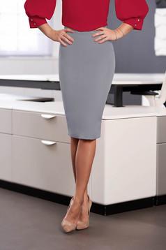 StarShinerS grey high waisted office pencil skirt slightly elastic fabric