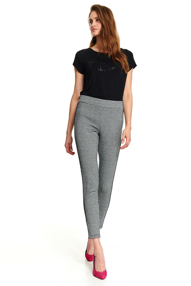 Black tights casual long medium waist with graphic details