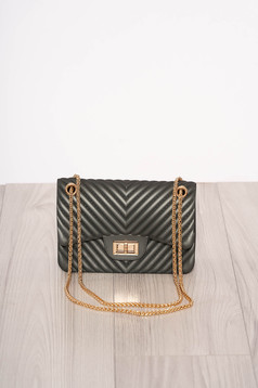 Darkgrey bag elegant long chain handle long, adjustable handle