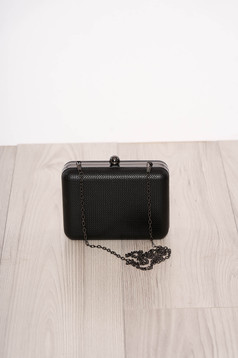 Black bag occasional detachable chain faux leather one eyelet fastening