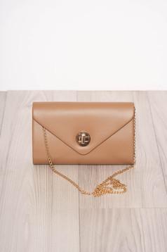 Cappuccino bag elegant faux leather detachable chain long chain handle