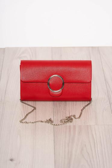 Red bag elegant long chain handle detachable chain