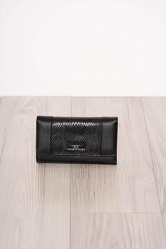 Black wallet snake print