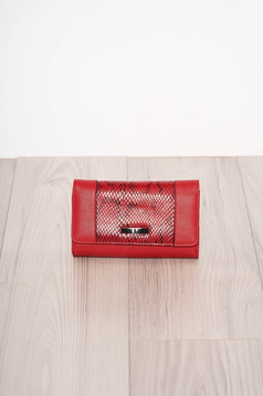 Red wallet snake print
