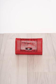 Red wallet snake print