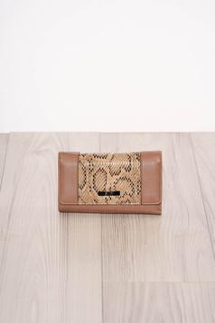 Cappuccino wallet snake print