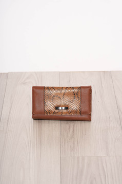 Brown wallet snake print
