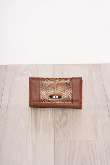 Brown wallet snake print