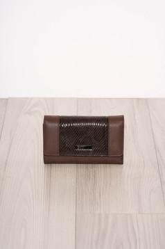 Darkbrown wallet snake print