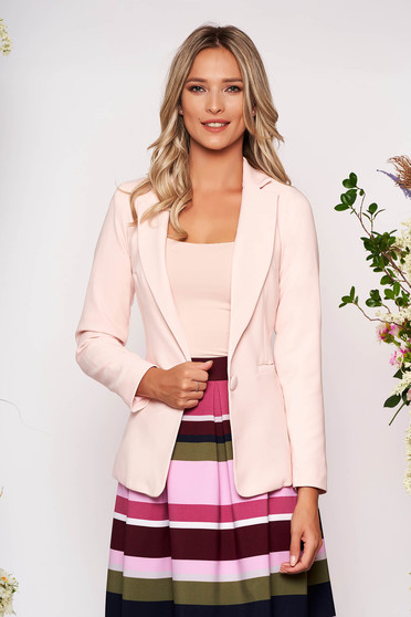 StarShinerS peach jacket with inside lining office from non elastic fabric arched cut