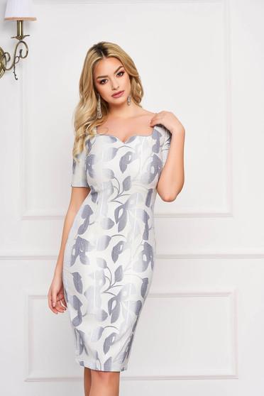 StarShinerS lightblue elegant pencil dress bareback cloth fabric