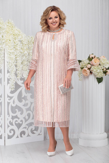 Lightpink elegant 2 pieces lady set with dress
