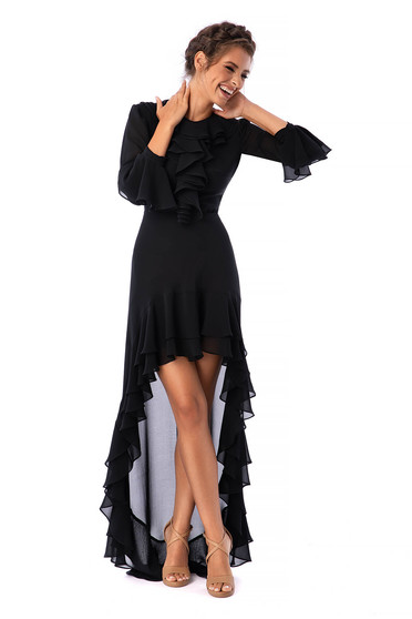 Ana Radu black dress luxurious