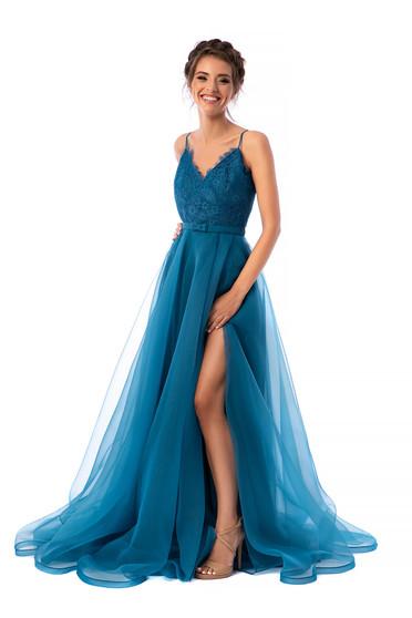 Ana Radu turquoise long cloche dress