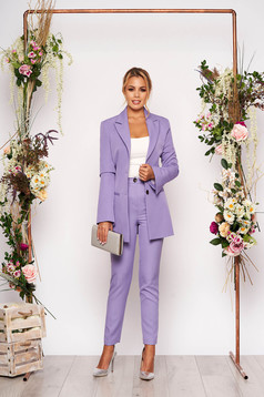 StarShinerS lila lady set office 2 pieces with trousers with pockets cloth