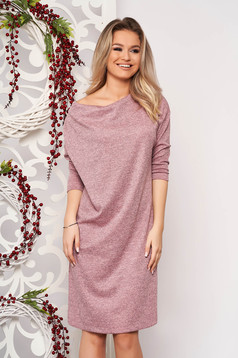 StarShinerS dress pink knitted fabric with easy cut