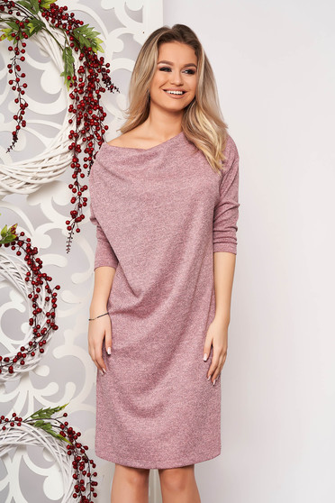 Dress StarShinerS pink knitted fabric with easy cut