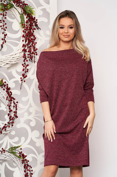 StarShinerS dress burgundy knitted fabric with easy cut