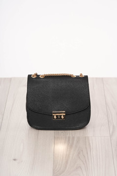 Bag black zipper accessory ecological leather long chain handle buckle accessory
