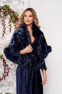 Fur darkblue occasional