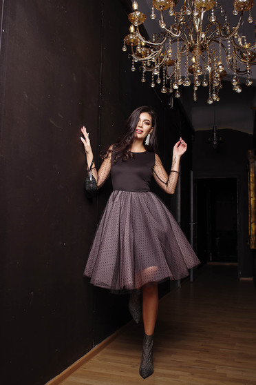 Dress lightpink occasional cloche long sleeve from tulle
