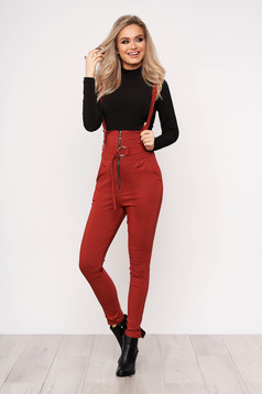 Bricky jumpsuit casual stretch with an accessory zippers