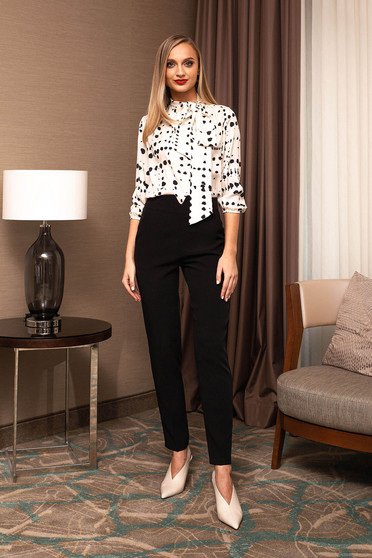 Trousers high waisted long conical elegant
