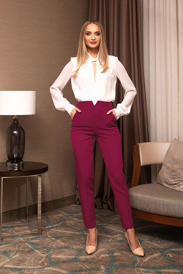 Trousers high waisted elegant arched cut cloth