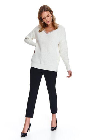 Top Secret S047776 White Sweater